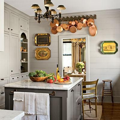 Going grey choosing a paint color hunt gather home for Chelsea gray kitchen cabinets